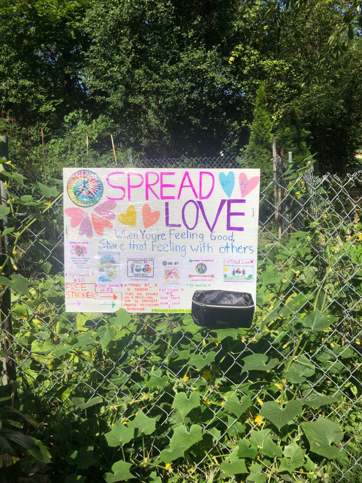 Spread Love: When you're feeling good share that feeling with others