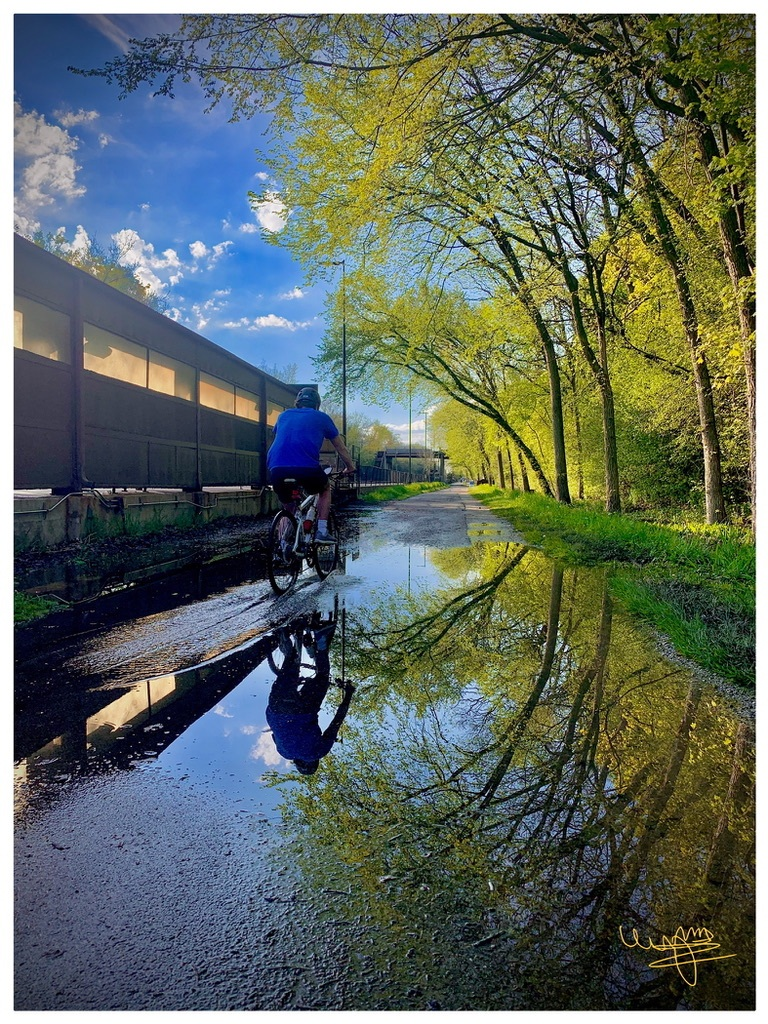 Biking at the Greenbay Trail After the Rain